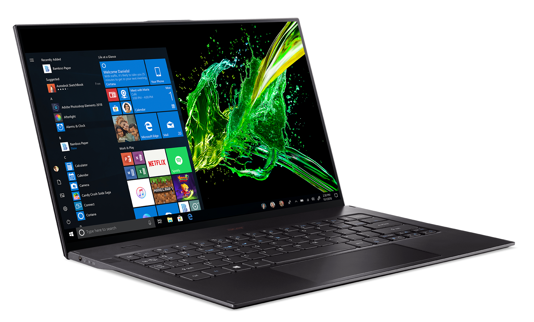 Acer Swift 7: IPS-screen, 16 GB of RAM, Core i7 and