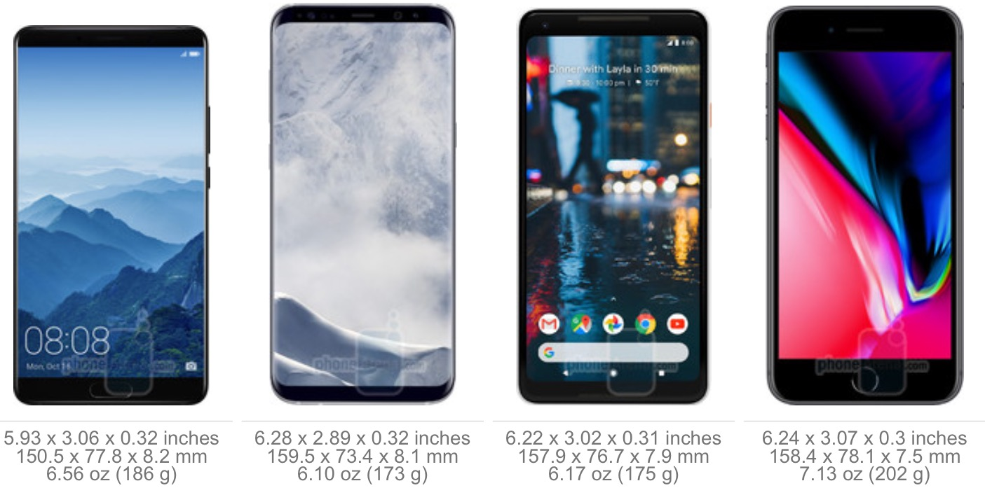 As Huawei Mate Mate 10 10 And Pro Look Next To Other